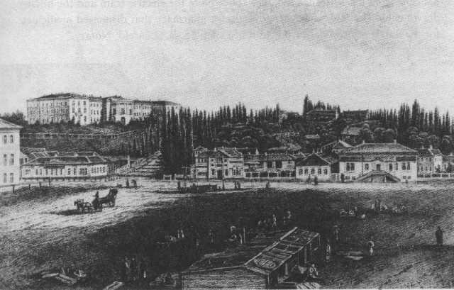 Крещатик в 1851 году