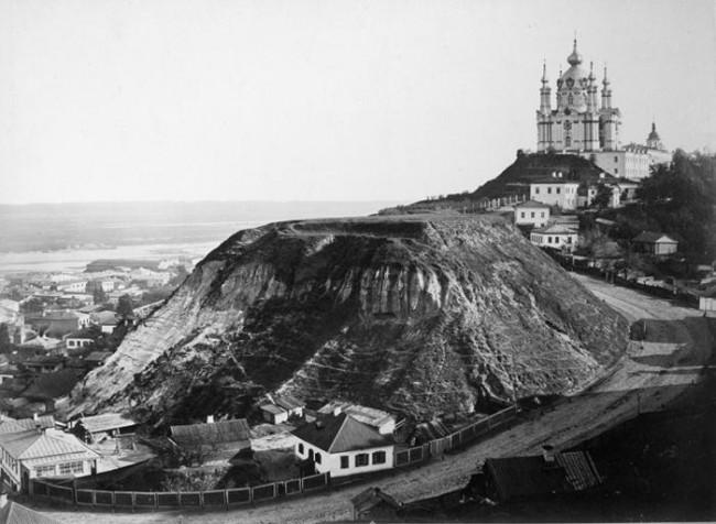 Андреевская церковь черно-белое фото 1860 года