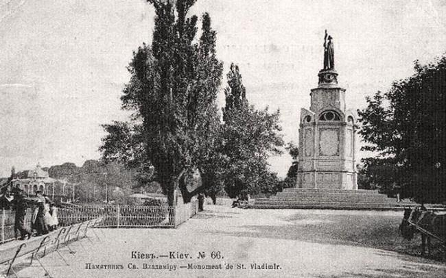 Памятник Святому Владимиру на Владимирской горке в 1880-м году