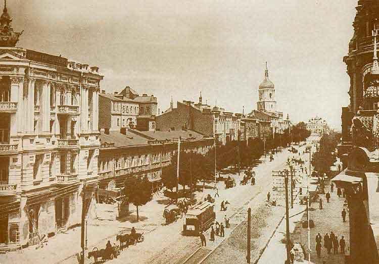 Улица Владимирская на фотографии конца 19 века