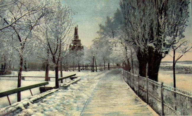 На Владимирской горке зима, конец 19 века