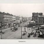 Черно-белое фото Крещатика в 90-х годах 19 века