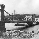 Цепной мост в Киеве в конце 19 века