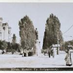 Конец 19 века, бульвар Шевченко, памятник Бобринскому