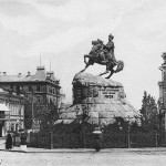 Памятник Богдану Хмельницкому в 1890-х годах