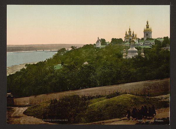 Вид на Лавру, начало 20 века