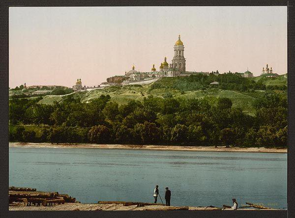 Вид на Лавру с левого берега, начало 20 века