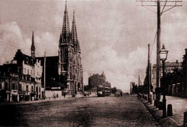 Начало 20 века, Большая Васильковская улица, Католический собор