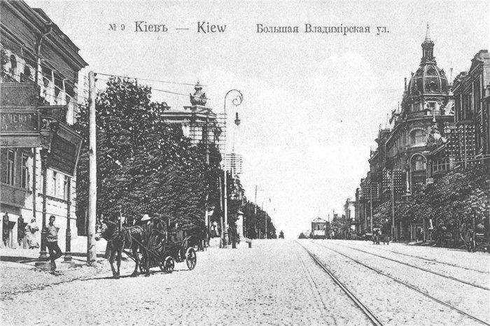 Владимирская улица в районе Золотых ворот в начале 20 века
