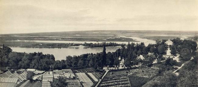 Днепр на черно-белом фото начала 20 века