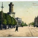 Пожарная башня, Владимирская улица в Киеве, начало 20 века
