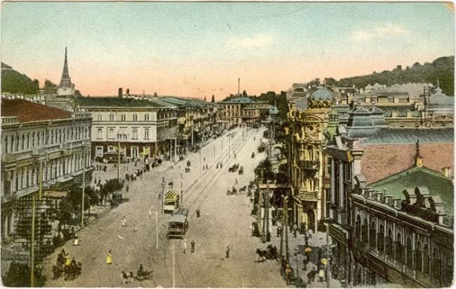 Вид на Крещатик в начале 20 века