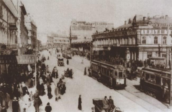 Начало Крещатика в 1900-х годах