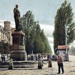 Бульвар Шевченко, памятник графу Бобринскому, начало 20 века