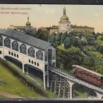 Фуникулер, Почтовая площадь, цветная открытка начала 20 века