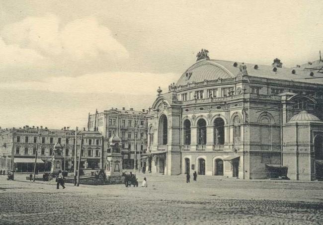 Здание киевской Оперы на улице Владимирской в начале 20 века