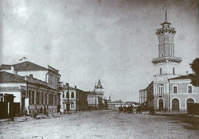 Улица Владимирская в районе пожарной части в начале 20 века