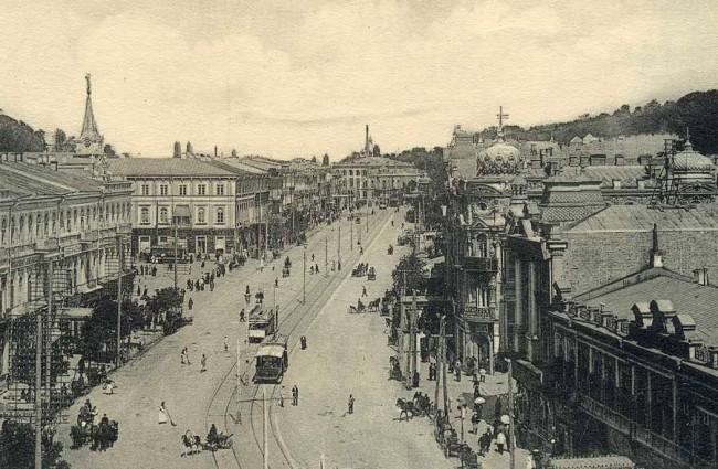 Крещатик и Думская площадь в начале 20 века