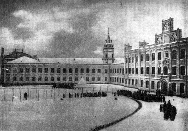 Зима в политехе в Киеве в начале 20 века