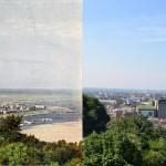 Фото Старого и нового Подола, 1905 год против 2011 года. Труба находится там же