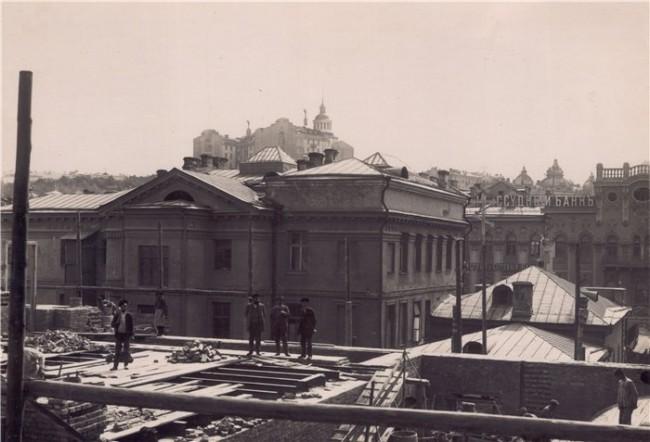 Телефонная станция на Крещатике - строительство в 1912 году