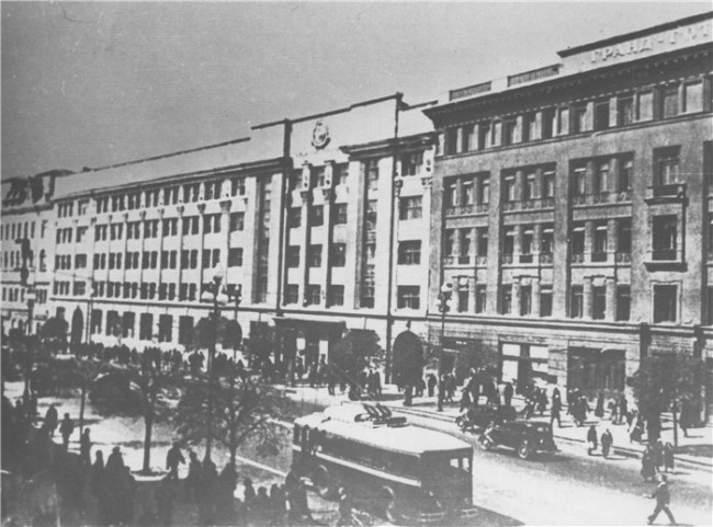 Фасады Крещатика в 30-х годах 20 века