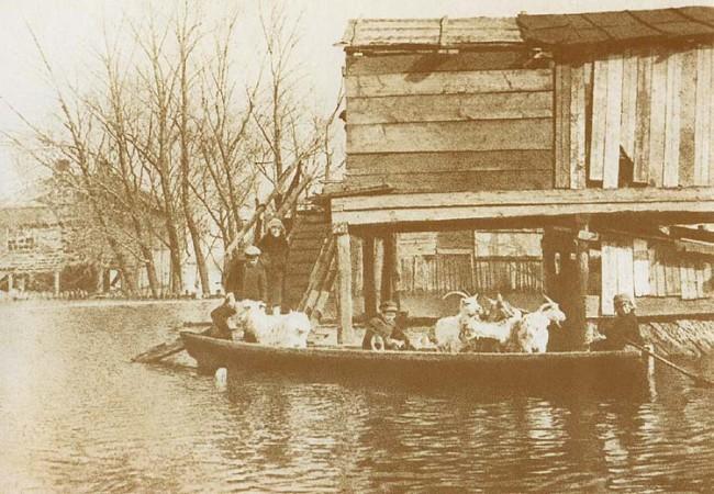 Потоп на Трухановом острове в 1931 году
