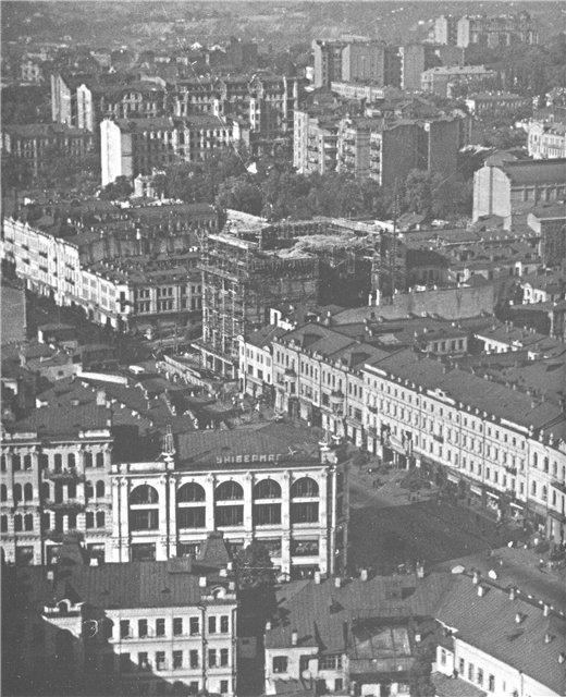 Как строили ЦУМ на Крещатике в 1937 году