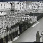 Военные части на Крещатике во время Октябрьского парада в 1939 году
