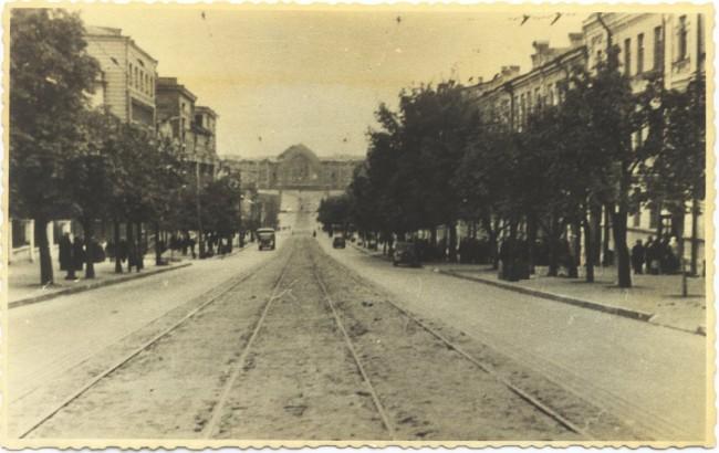 Улица Безаковская в 1940-х годах