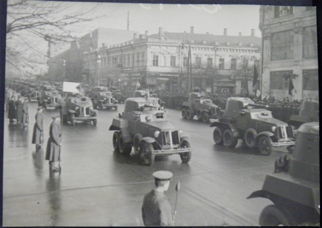 1940 год, военный парад на Крещатике в честь 1 мая