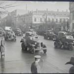 Бронетехника на Крещатике в рамках военного парада 1940 года