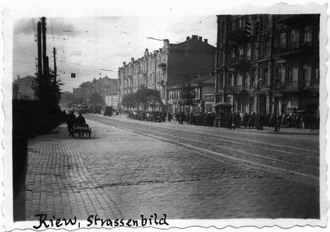 Большая Васильковская улица в 1941 году