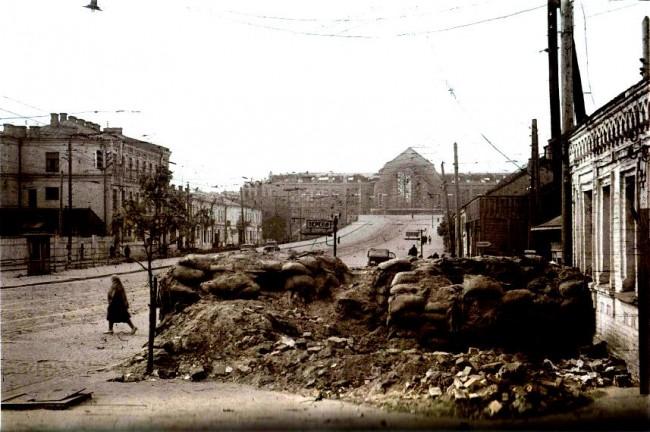 Улица Коминтерна во время войны, вокзал, 1941 год