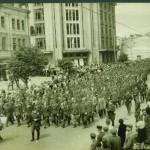 Освобожденный Киев, пленные немцы, Крещатик, 1944 год