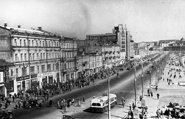 Крещатик в 1949 году