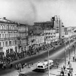 Крещатик после войны в 1949 году