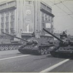 Первомайский парад на Крещатике в 1949 году