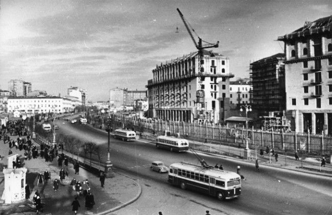 Стройка Крещатика в 1950 году