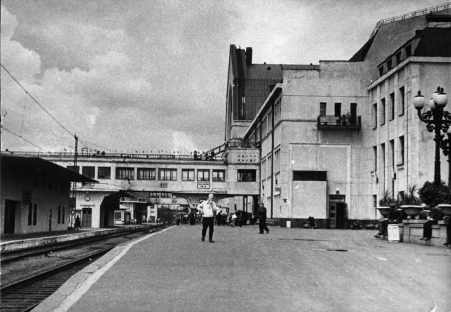Восстановленный после войны ЖД вокзал Киева, 50-е годы 20 века