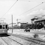 Улица Диагональная в 1956 году (нынешний проспект Гагарина)