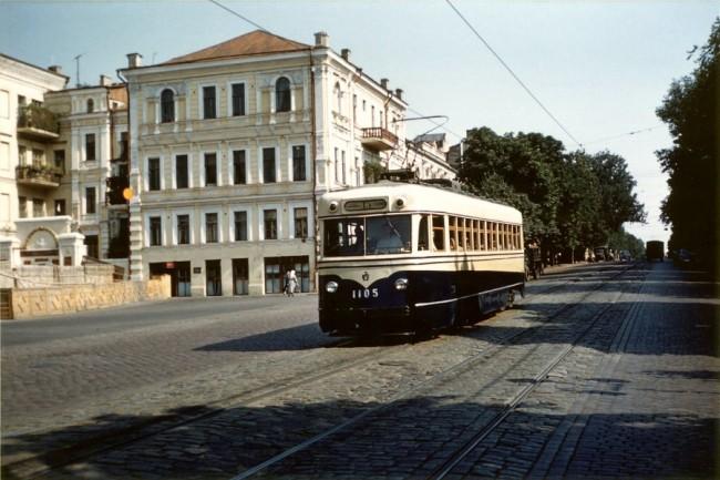 Трамвай на Владимирской улице 1959 год