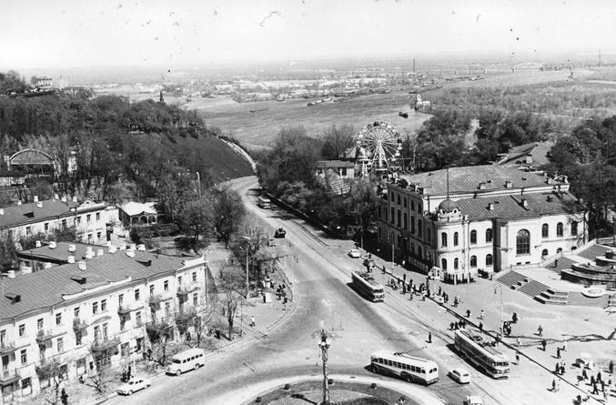Площадь Сталина в Киеве в 1960 году