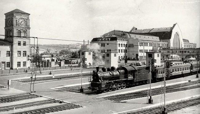 Киевский вокзал в 1962 году
