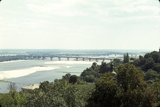 Лавра, Днепр, мост через реку в 1964 году