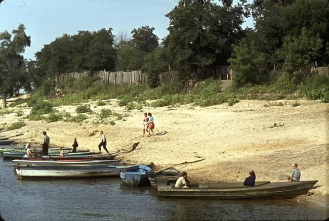 Лодки на Трухановом острове