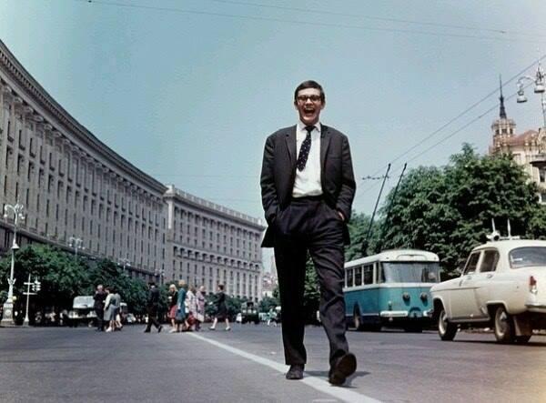 Режиссер Никита Михалков в Киеве в 1966 году