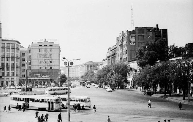 1969 год. Европейская (Ленинского Комсомола) площадь
