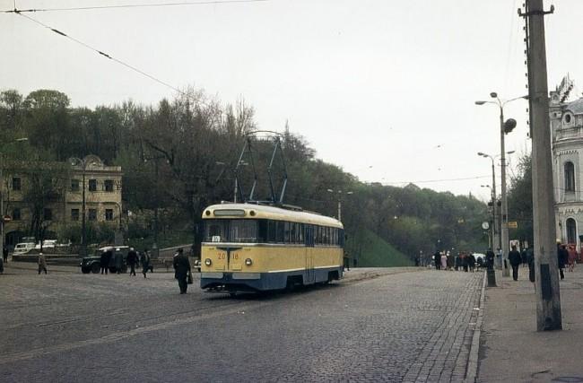 Площадь Ленинского Комсомола в 1970 году
