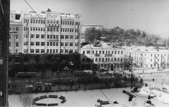 Площадь Ленинского Комсомола в 1970-х годах